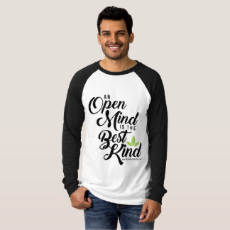 Men's Long Sleeve Raglan Cannatopia Open Mind Tee