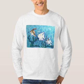 Men's Long Sleeve tee -Tropical Angel Fish
