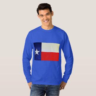 Men's Long Sleeve Texas Flag Tee Shirt
