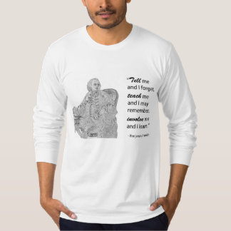 Men's Long-Sleeved Tee - Ben Franklin Quote