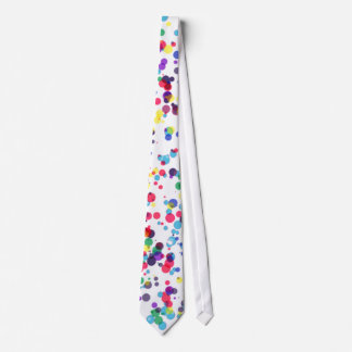 Men's Loud Spotty White Tie