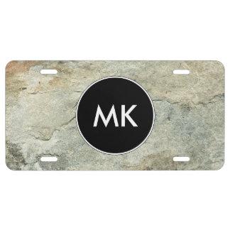 Men's Monogram Car Tag License Plate