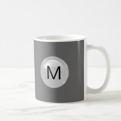 Mens Monogram Coffee Mugs