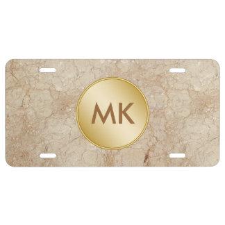 Men's Monogram License Tag License Plate