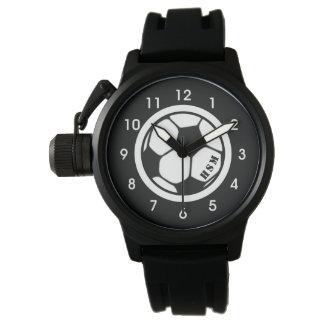Men's Monogram Soccer Watch Black