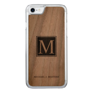 Men's Monogram Walnut Wood Executive Case