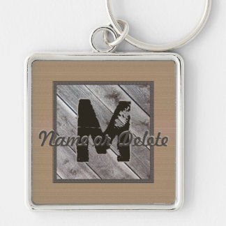 Mens Monogrammed Keychains with His Name, Monogram