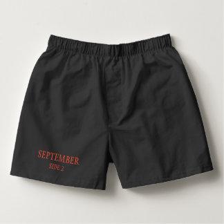 Men's Monthly Underwear September Boxers