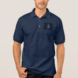 Men's Navy Blue Polo Shirt With Spiny Digital Art