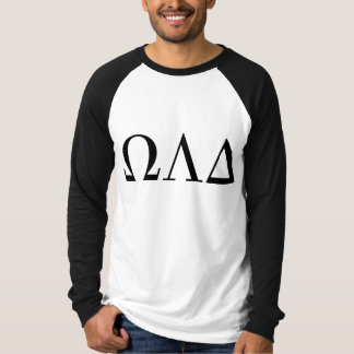 Mens Omega Lambda Delta Long Sleeve Baseball Tee