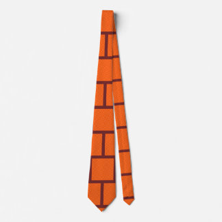 Men's Orange Block Neck Tie