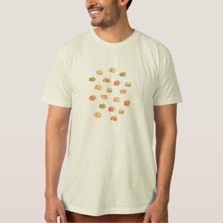Men's organic T-shirt with pumpkins