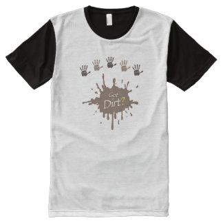 "Men's Panel ""Got Dirt?"" Tshirt All-Over Print T-Shirt"
