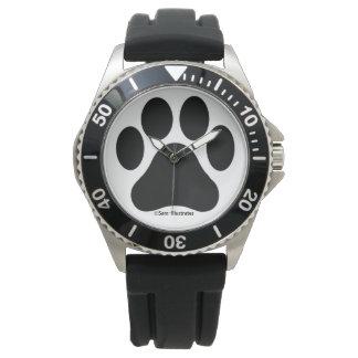 Men's Paw Print Pattern Watch