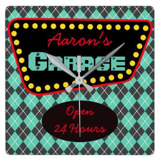 Men's Personalized Garage Car Auto Shop Clock Gift