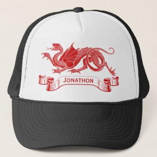 Men's Personalized Red Dragon Trucker Cap