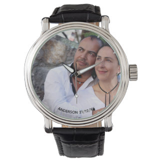 Mens PHOTO Watch 25th 50th Husband ANY Anniversary