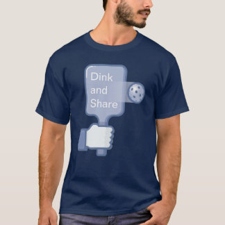 "Men's Pickleball T-shirt: ""Dink and Share"" (Blue) T-Shirt"