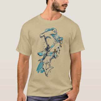 Mens Pirate Hammer Head Shark T-Shirt in Colour