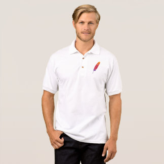 Men's Polo Shirt with Feather