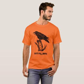Men's Raven Halloween T Shirt Orange Personalize