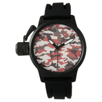 Men's Red Camo Wristwatch