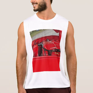 Men's red engine tank top