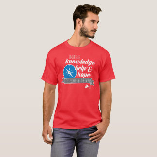 Men's Red Knowledge, Help and Hope Compass Tshirt