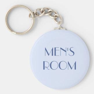 Men's restroom keyring