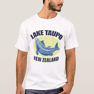 Mens Retro Lake Taupo New Zealand T-Shirt