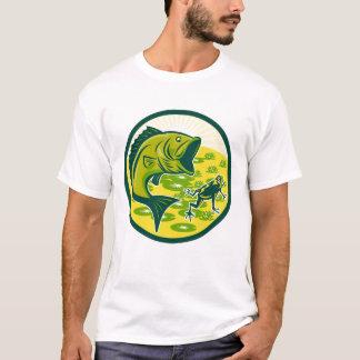 Mens Retro Largemouth Bass T-Shirt