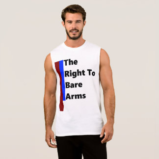 Mens Right To Bare Arms Sleevless Sleeveless Shirt