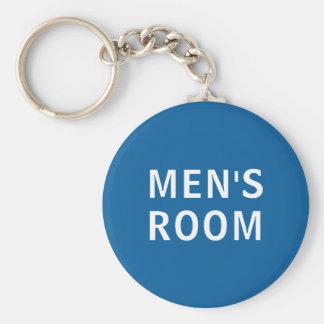 Men's room restroom keyring