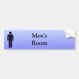 Mens Room Sticker Car Bumper Sticker