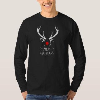 Men's Rudolph Eroded Design Holiday LS T-Shirt