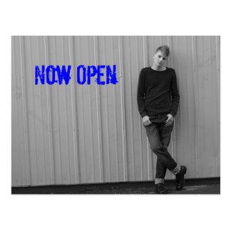 Men's Salon now open Postcard