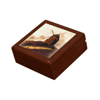Mens Sepia Windmill Jewelry Box