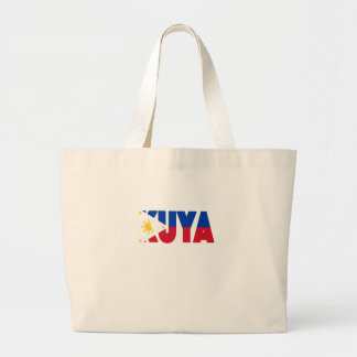 Mens Shirt Big Brother Filipino Kuya Flag Large Tote Bag