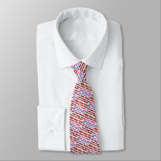 Men's silk tie, pastel dashes tie