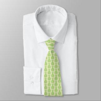 Men's silk tie with green vases