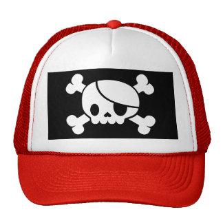 Men's Skull & Crossbones Pirate Trucker Hat. Cap