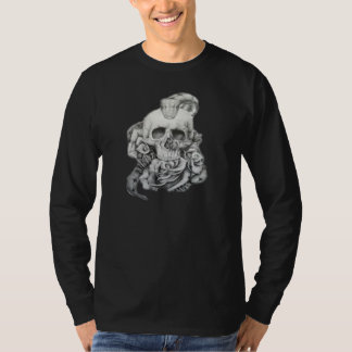 Mens Skull Rose's, Cobra Tee Shirt