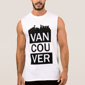 Men's sleeveless t-shirt with Vancouver lettering
