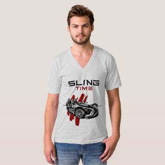 Mens Sling Time V Neck Tshirt