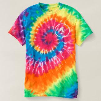 Men's Spiral Tie-Dye T-Shirt, Rainbow Swirl Fk T-Shirt
