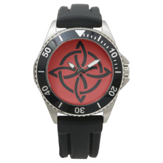 Men's Stainless Steel Black Rubber Strap Watch