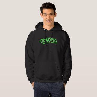 Men's Storiez Hoodie (Lime Green Logo)
