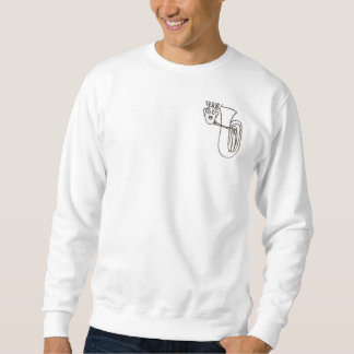 Men's sweat shirt with nutty tuba player