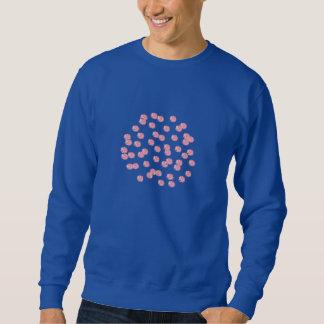 Men's sweatshirt with red polka dots