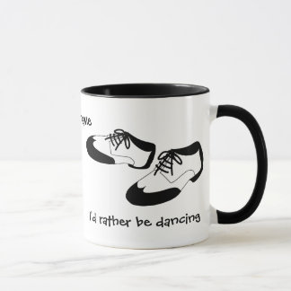 Mens Swing Dance Shoes Id Rather Be Dancing Spats Mug